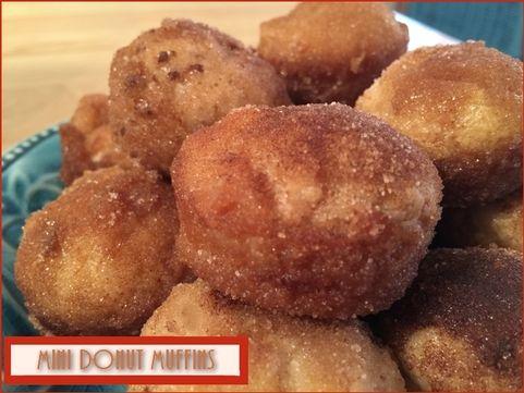 Mini Donut Muffins  http://www.momspantrykitchen.com/mini-donut-muffins.html