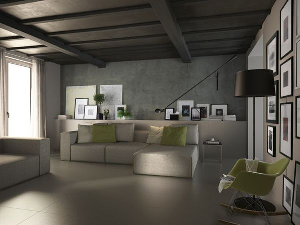 Pavimento grigio ecco l 39 arredamento da abbinare 3d wall for Grigio e beige arredamento