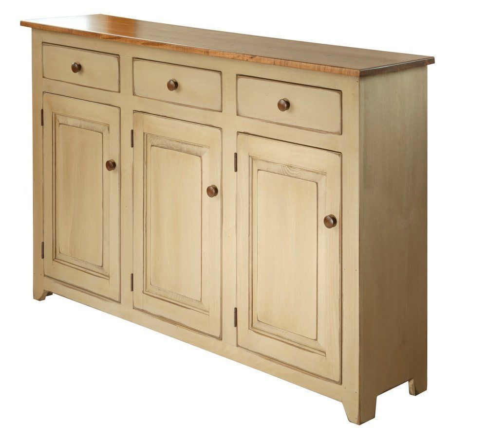 Amish Cabinet Doors Details About Country Buffet Dining Cabinet W 3 Doors Wormy Maple