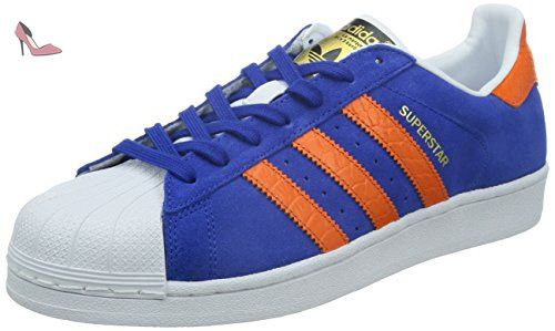 adidas Superstar East River Rivalry Mens Suede Trainers Blue