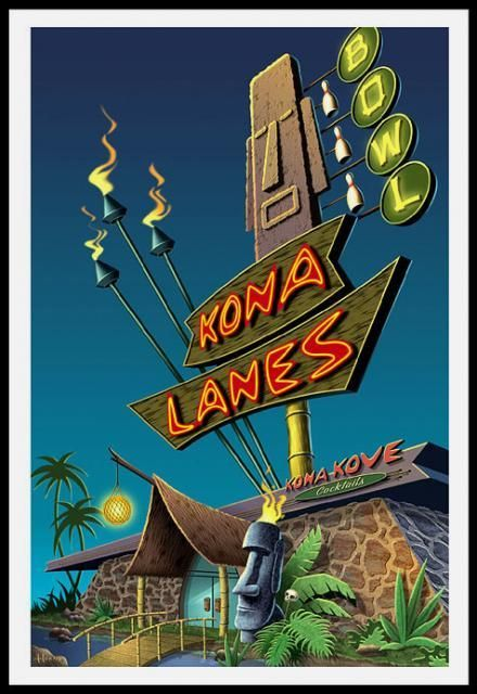 "Culture Cove Gallery & Tiki Room — ""Kona Lanes"""