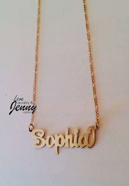 Necklaces Name Plates Men Women Jewelry Lovejewelrybyjenny Kids Rings Nameplate Necklace Gold Gold Name Necklace