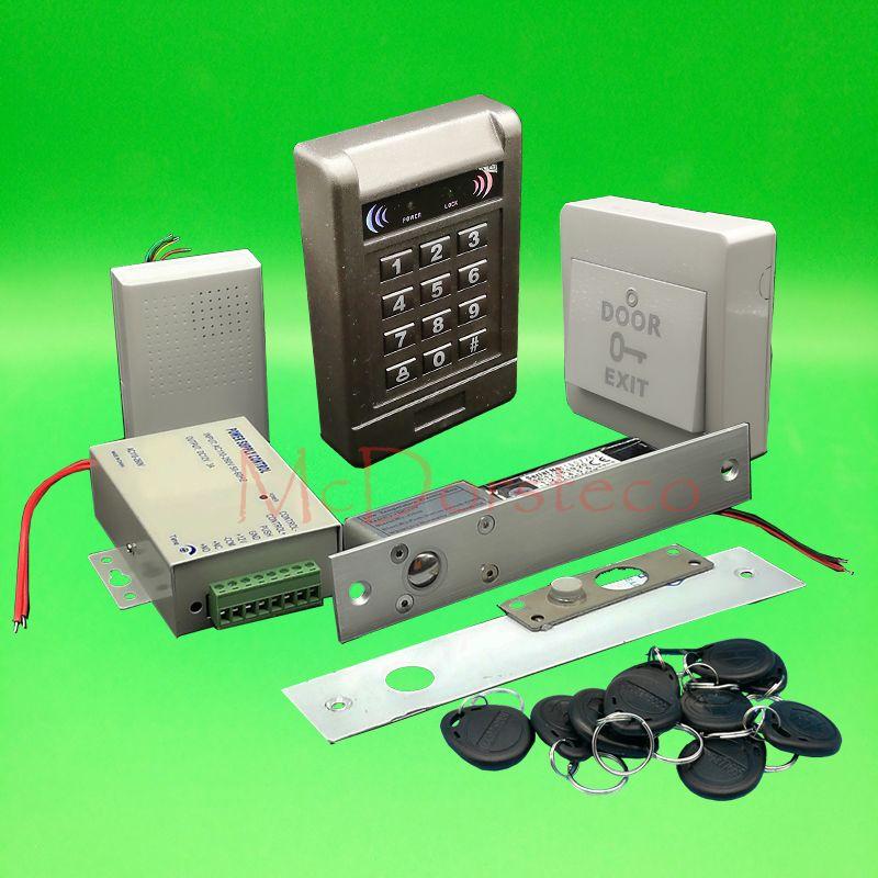Diy Complete 125khz Rfid Keypad Door Access Control System Electric Bolt Lock Wood Door Control System Access Control Access Control System Door Lock System