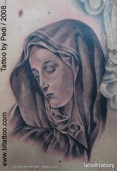 Tatouage Sainte Vierge Marie Dos Femme Ts1v3nz Tatouage Vierge Marie