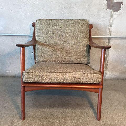 Vintage Teak Danish Chair Reupholstered Danish Chair Modern Style Furniture Chair