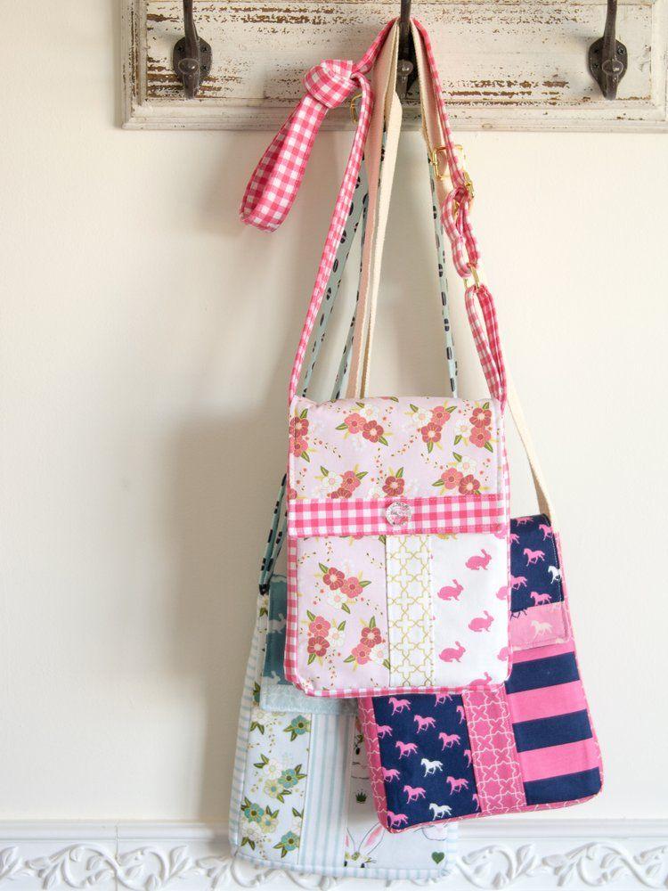 Image of June Bag, Mini Messenger Bag Sewing Pattern PDF | Bags ...