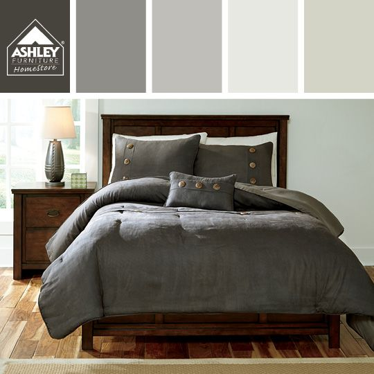 Classic Gray For The Bedroom Token Comforter Set Ashley