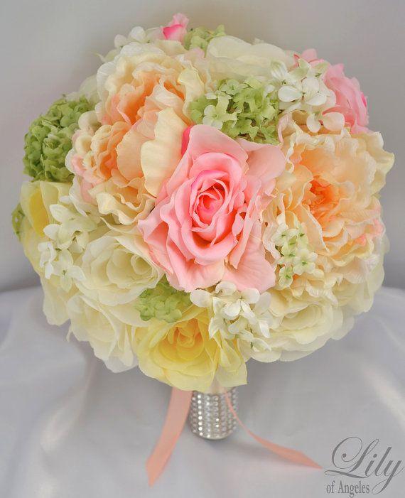 Wedding Bridal Bouquet Silk Flowers bouquets by LilyOfAngeles, $219.99