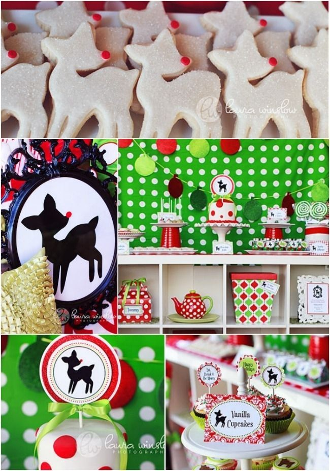 Attractive Baby Christmas Party Ideas Part - 5: Vintage Rudolph Christmas Birthday Party Ideas