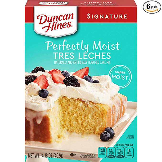 Duncan Hines Signature Tres Leches Cake Mix With Images