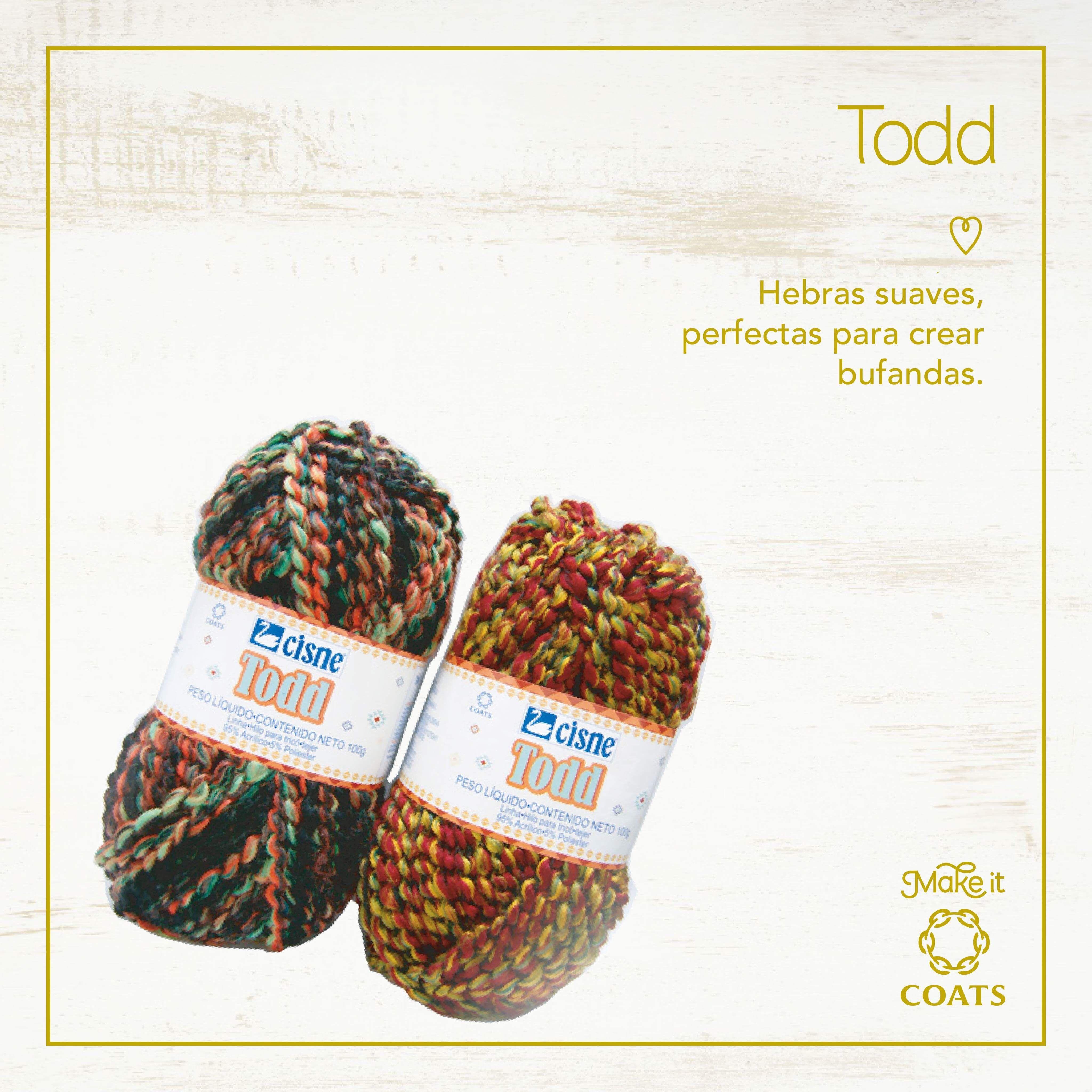 Crea maravillosas bufandas con nuestra lana cisne todd, hermosas ...