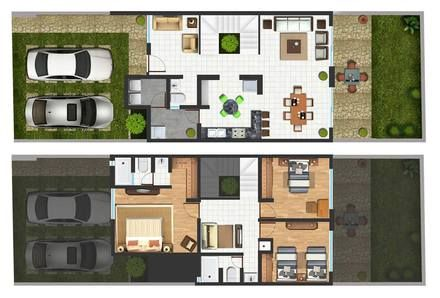 Preventa casa habitacion 2 niveles tipo minimalista for Casa habitacion minimalista