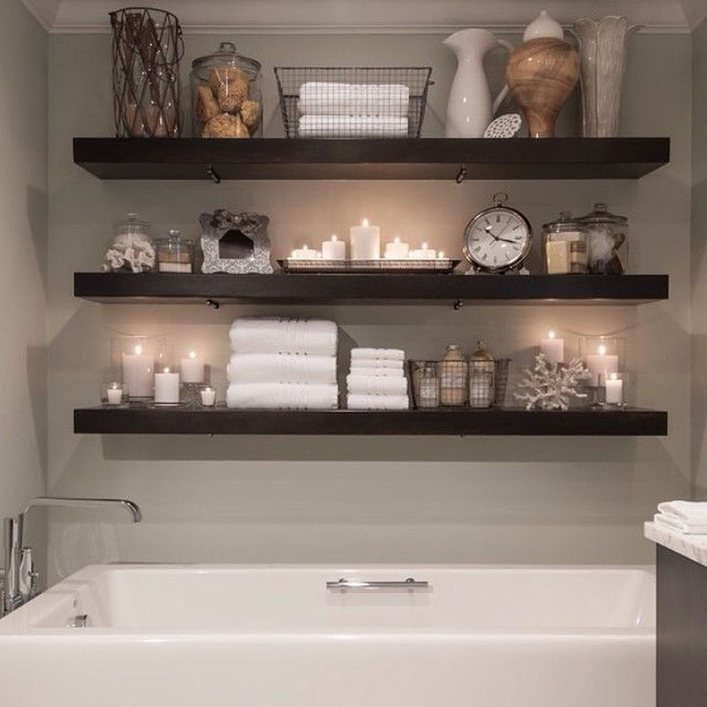20+ Modern Bathroom Floating Shelves Design Ideas For You #floatingshelves