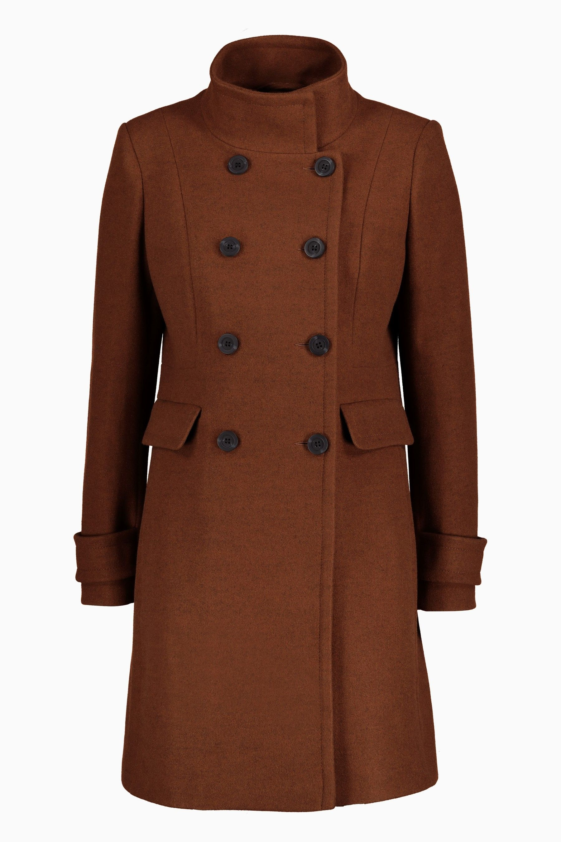 2bebb5e55103 Womens Next Tobacco Funnel Neck Coat - Brown   Products in 2019 ...