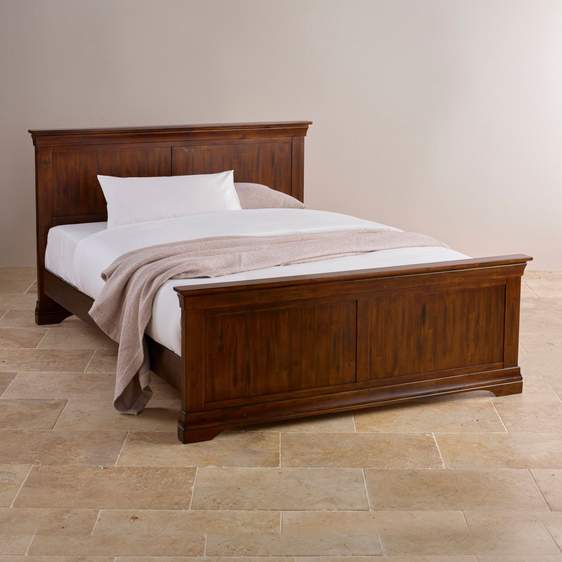 Victoria Solid Hardwood 5ft Queen Bed Super king size