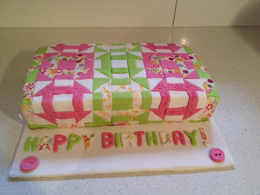 iPhone and a quilt! Cool Cakes & Pies Patchwork cake