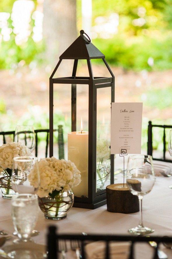 Lanterns As Centerpieces At Wedding Reception W Wedding Wedding