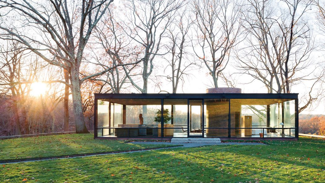 House Tour With images Philip johnson glass house