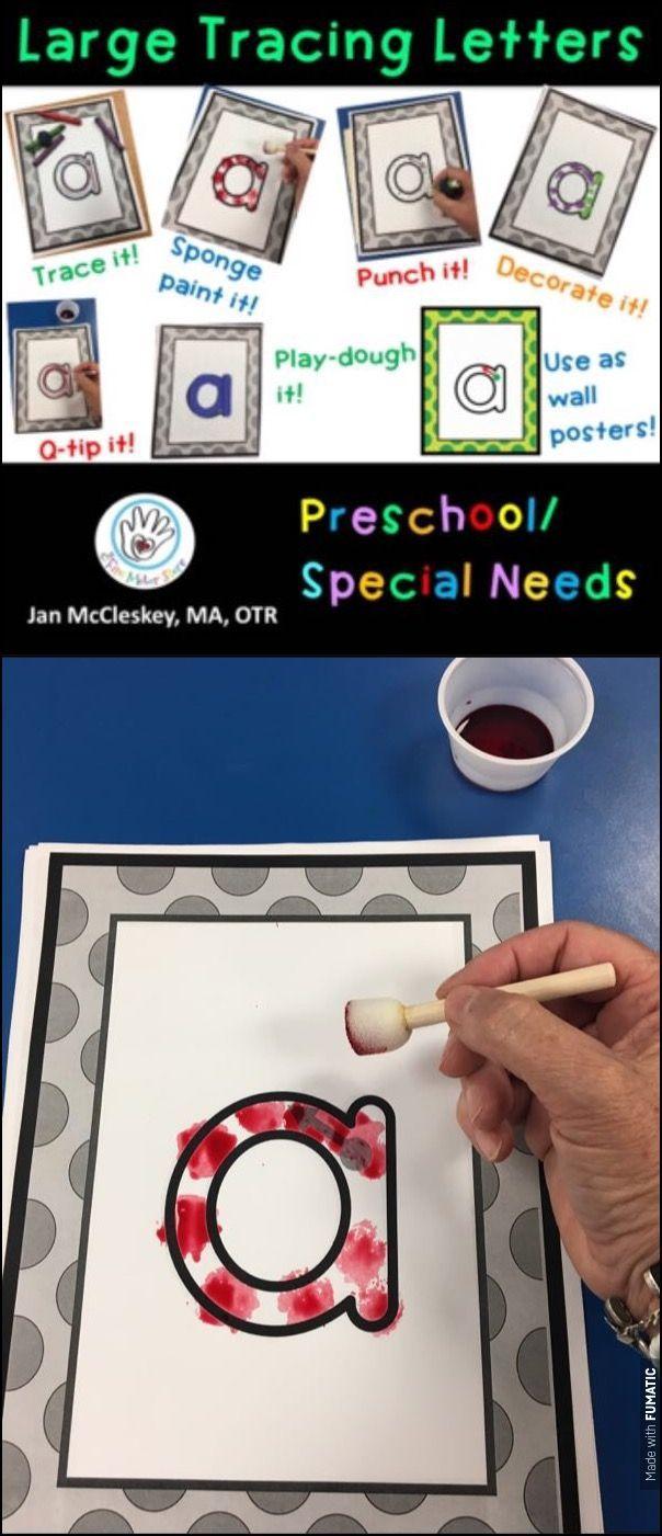 Preschool and special needs large alphabet tracing letters preschool and special needs printable alphabet templates to trace punc paint decorate spiritdancerdesigns Images