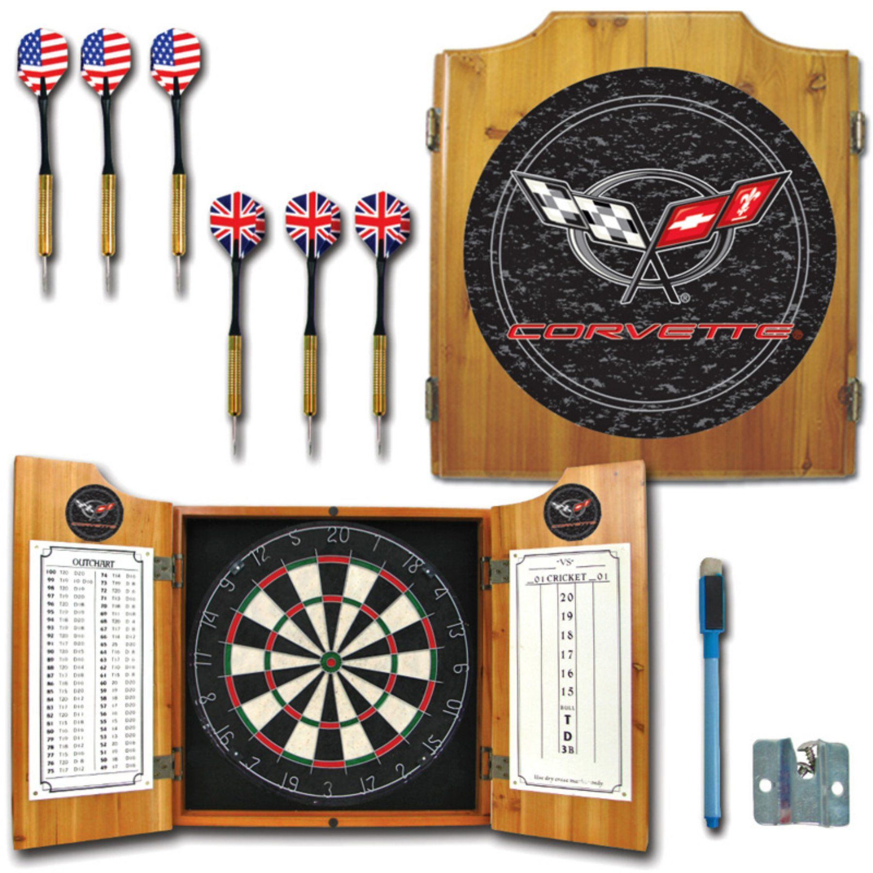 Trademark Games Corvette C5 Bristle Dart Board plete Set GM7000