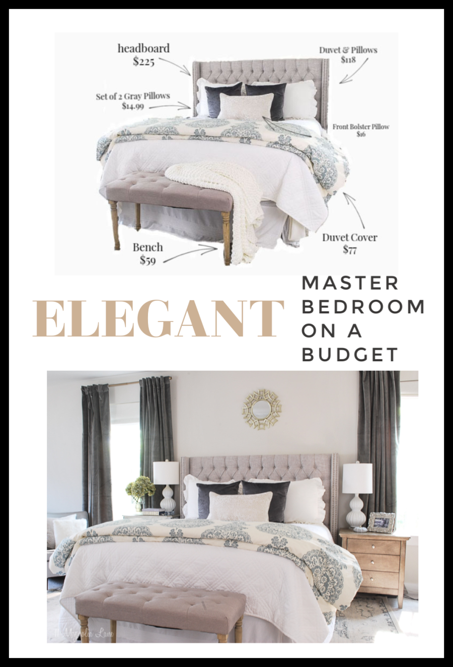 How To Decorate Your Master Bedroom On A Budget Elegant Bedroom