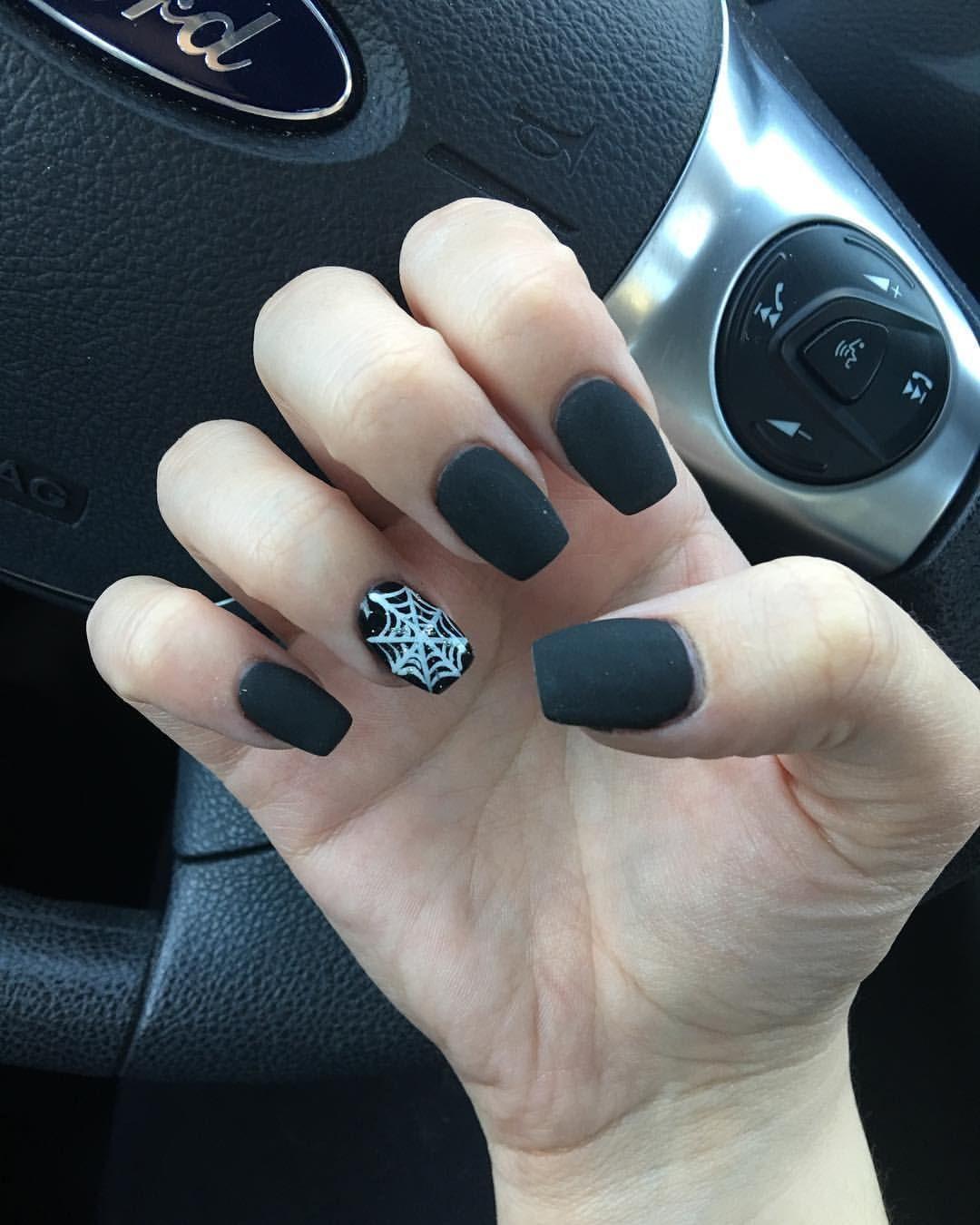 33 Breathtaking Designs For Almond Shaped Nails Matte Nails Design Matte Black Nails Trendy Nail Art
