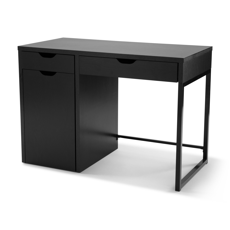 Mainstays Perkins Desk With Metal Frame Multiple Colors Walmart Com In 2020 Desk With Drawers Desk Desk Storage