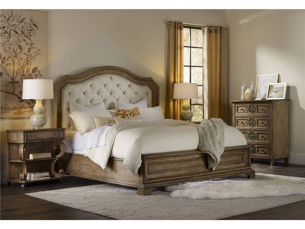 Hooker furniture bedroom solana queen upholstered panel bed