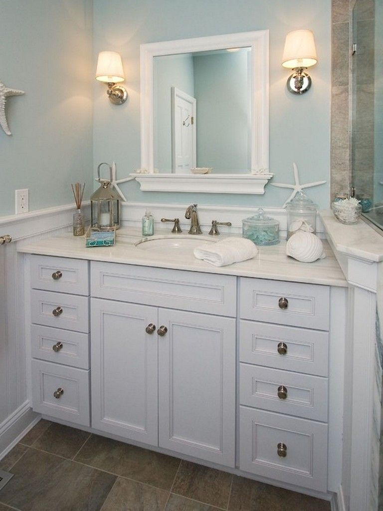 34+ Amazing Coastal Style Nautical Bathroom Designs Ideas 34+ Amazing Coastal Style Nautical Bathroom Designs Ideas Bathroom Decoration coastal bathroom decor