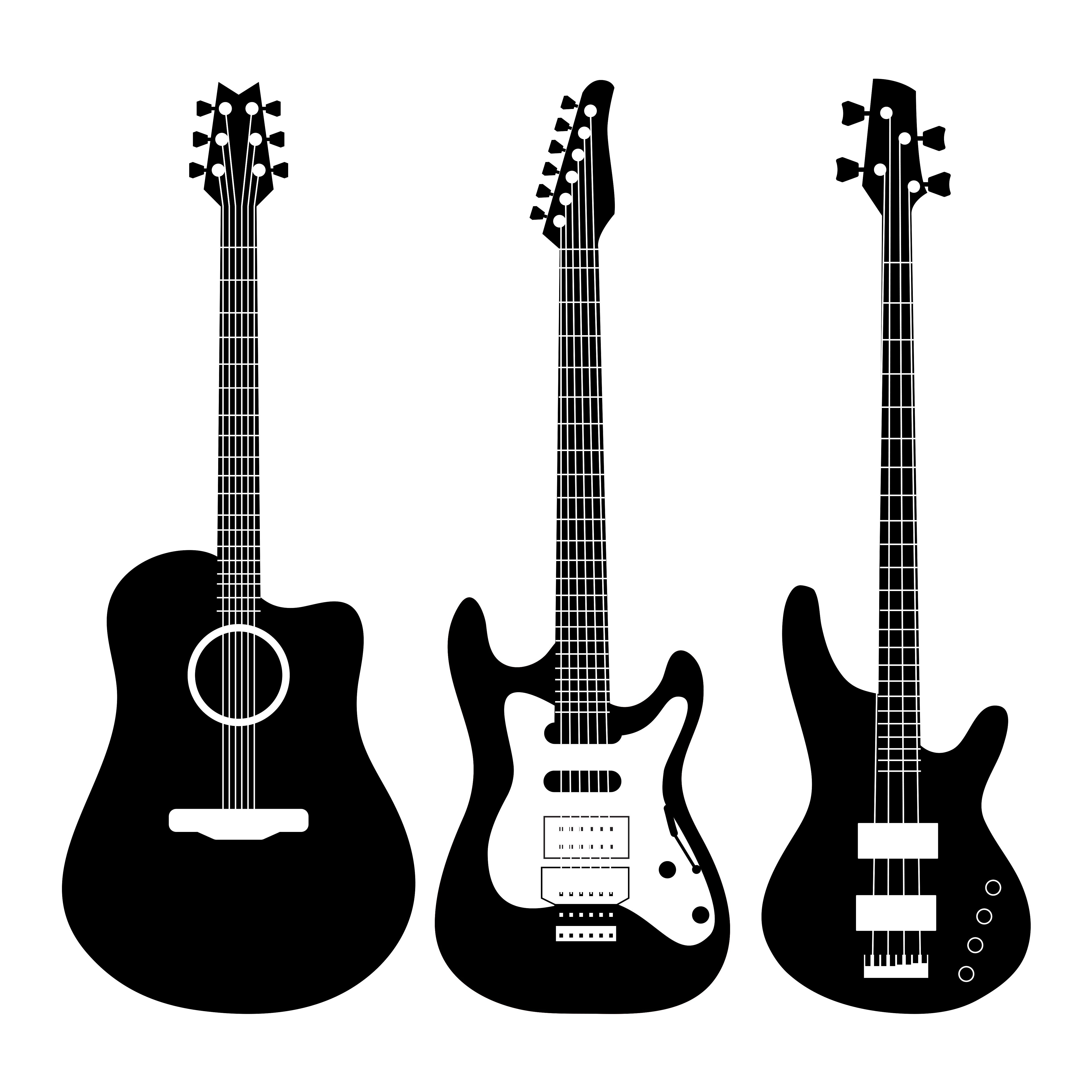 Vector Guitars Set Guitar Vector Electric Guitar Guitar