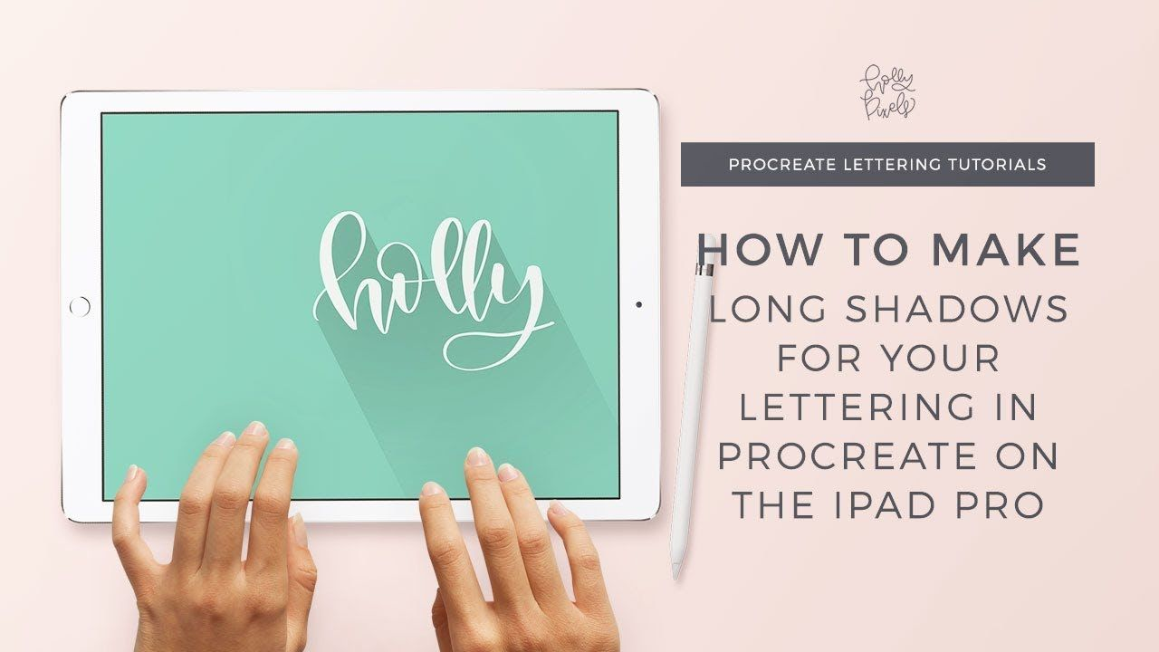 How to Create Long Shadows in Procreate App for the iPad