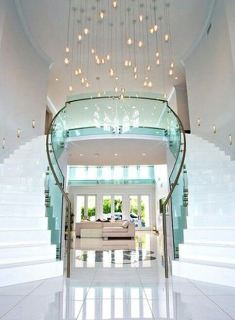 Best Marble Floors Double Staircase Luxurious Homes House 640 x 480