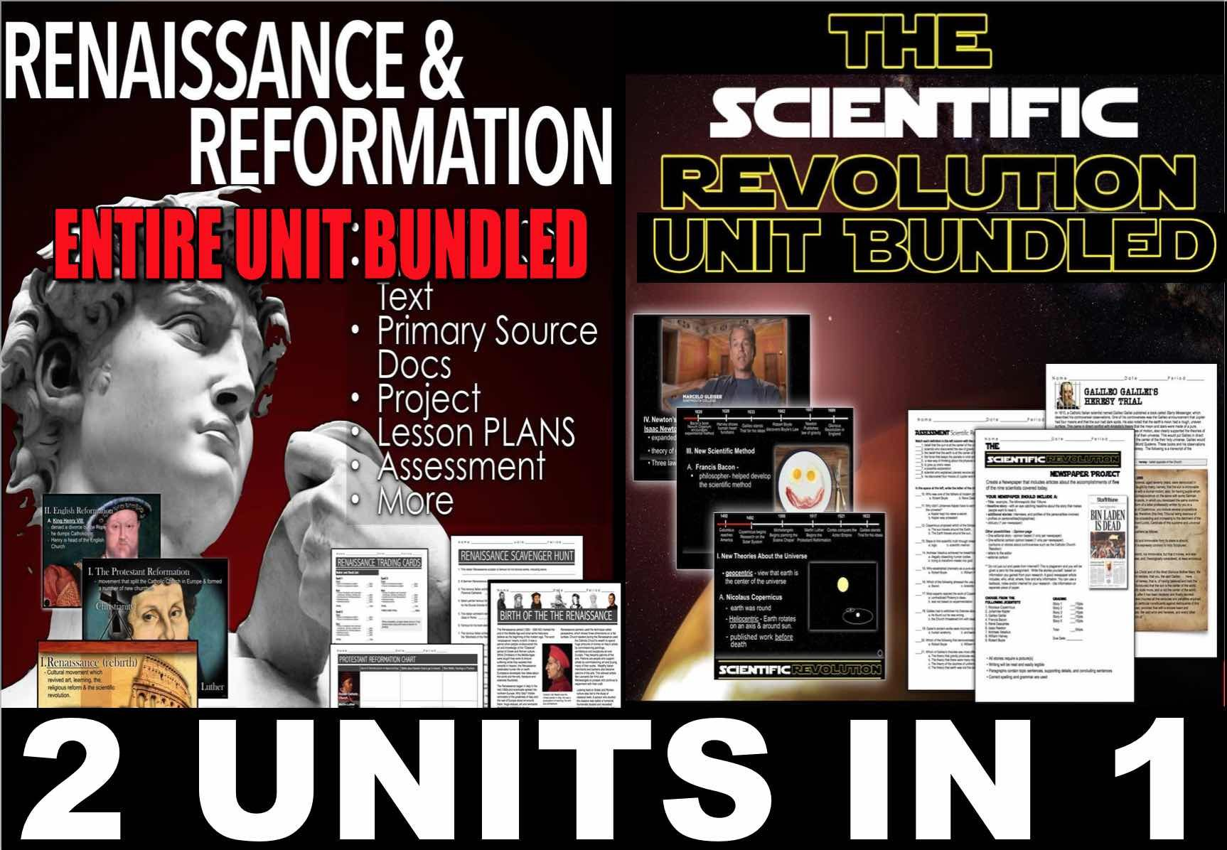 Renaissance Scientific Revolution Unit Bundled 2 Units In