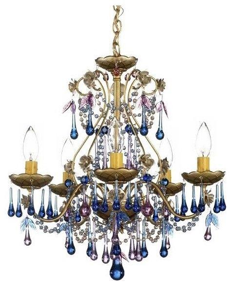 Schonbek rose blue violet crystal chandelier eclectic schonbek rose blue violet crystal chandelier eclectic chandeliers lamps plus mozeypictures Gallery