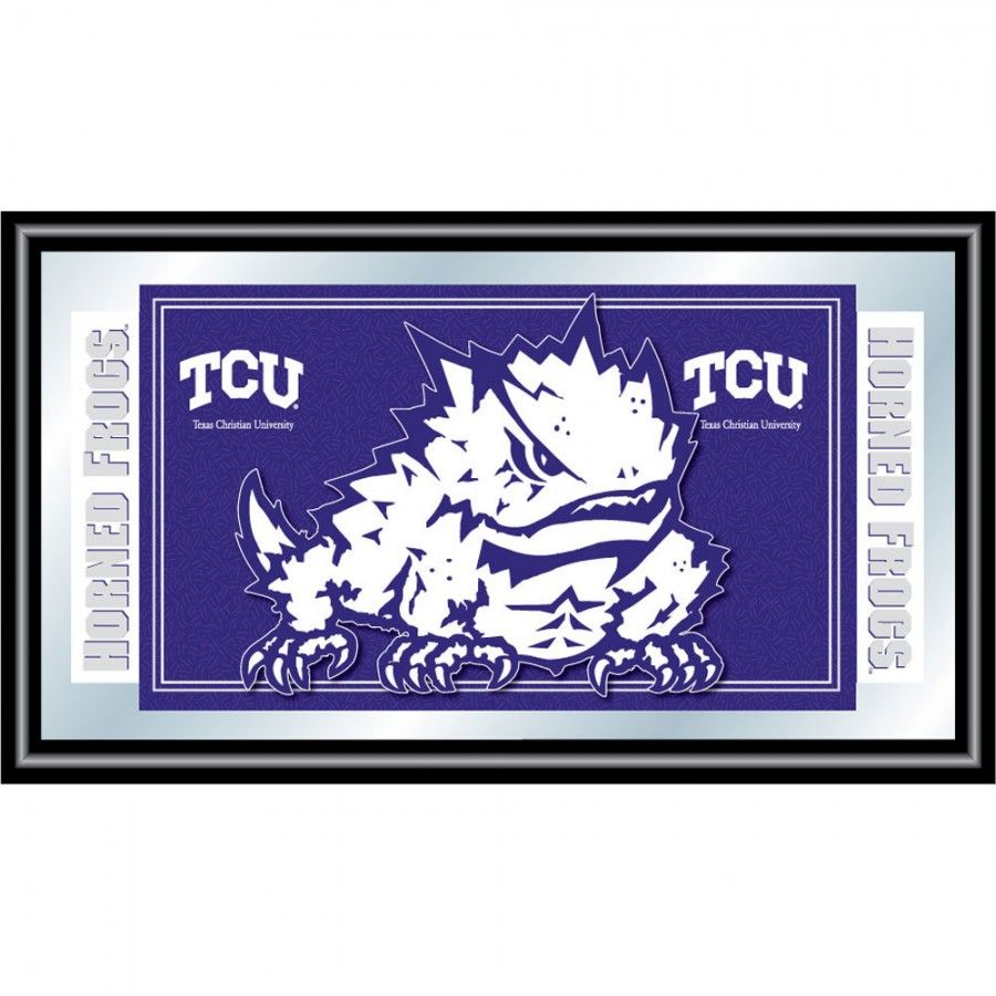 Trademark Global Texas Christian University Logo And Mascot Framed Mirror Clc1525 Tcu Texas Christian University University Logo Mirror Frames