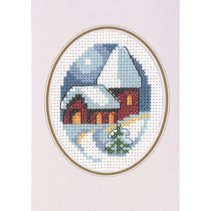 snowy church cross stitch - Google keresés