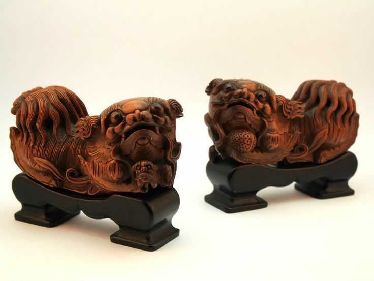 These look like two pekingese dogs | Chinese antiques, Foo dog, Lion dog