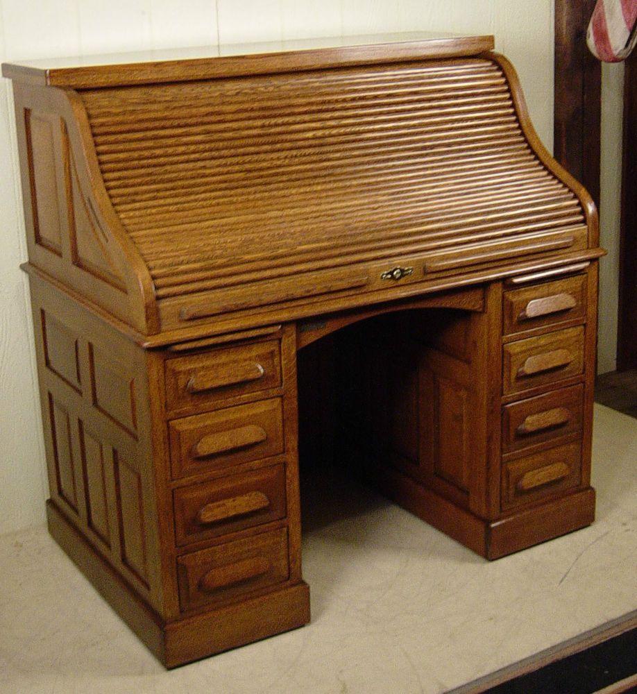 Roll Top Desk Lock Antique Desk, Antique Furniture, Home Furniture,  Furniture Design, - Antique Quarter Sawn Oak 50