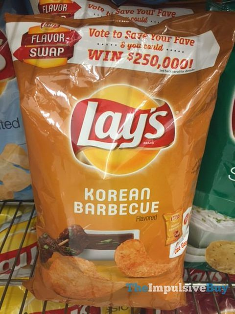 Lay's Korean Barbecue Potato Chips  These are surprisingly