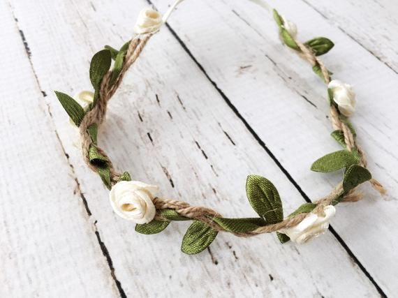 Boho Flower Crown Headband - Baby Photo Shoot Prop #crownheadband