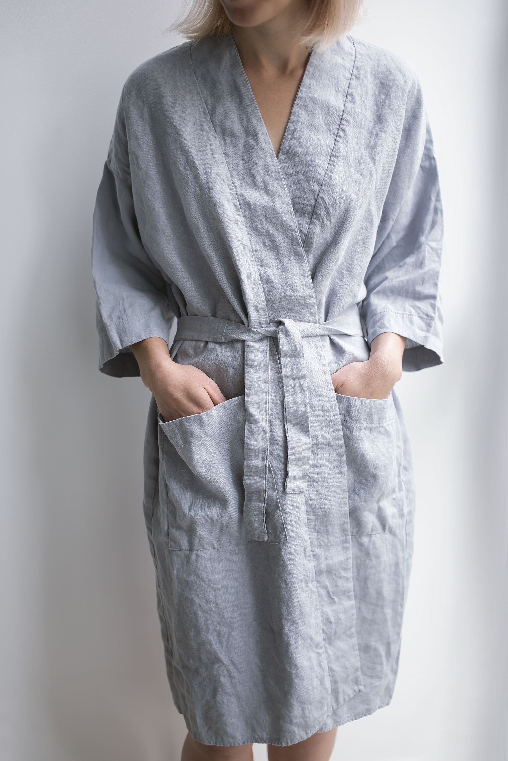 Kimono Dressing Gown Linen Nightgown Sustainable Clothes