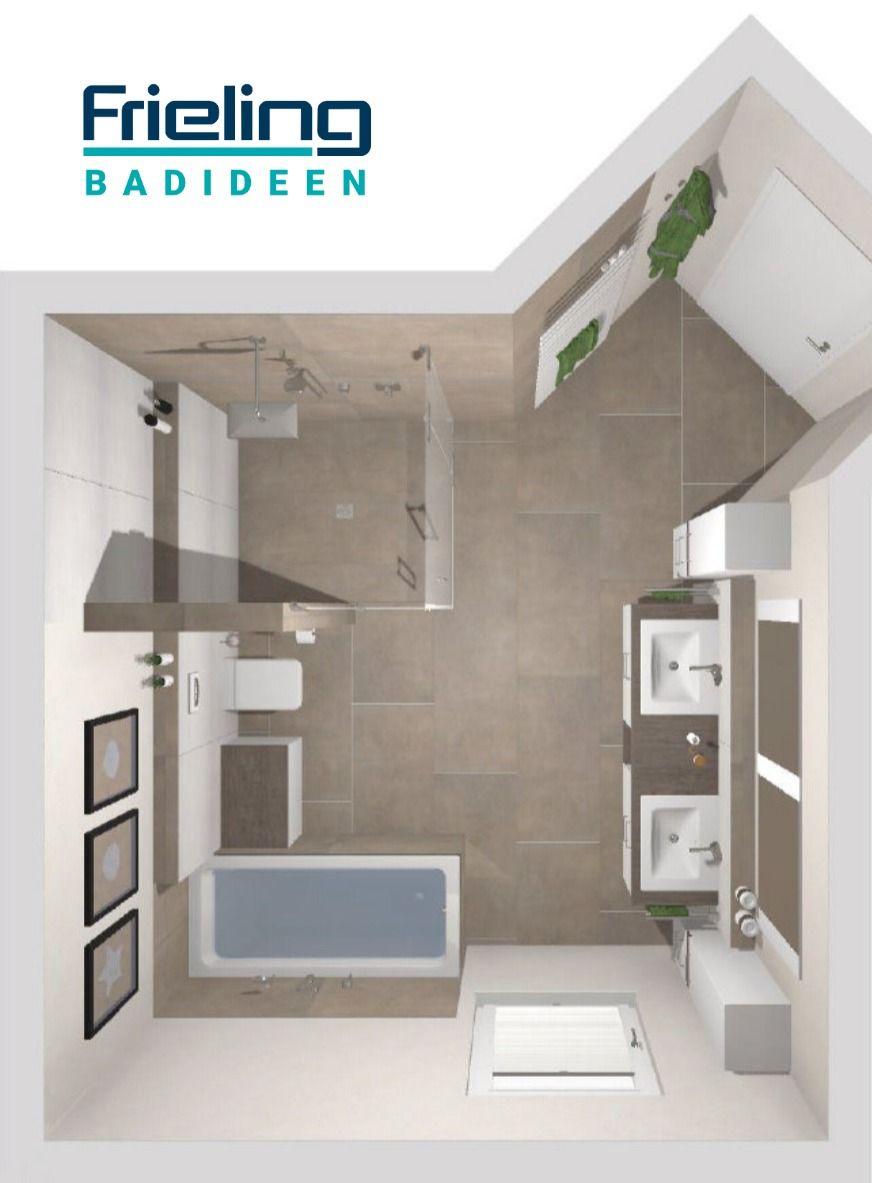 Das Grosse Familienbadezimmer 3d Planung Vogelperspektive Asymmetrisch Grundriss Ebenerdig In 2020 Badezimmer Grundriss Baden Familienbad