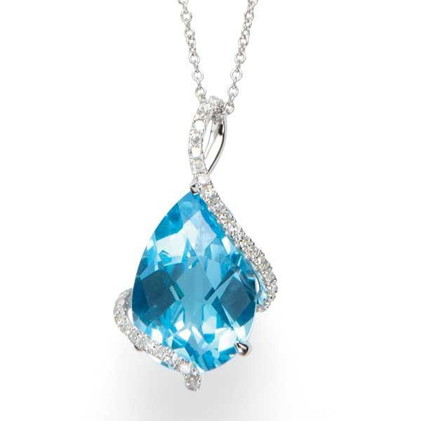 Pear shaped blue topaz and diamond caged pendant pear shaped ring pear shaped blue topaz and diamond caged pendant aloadofball Image collections