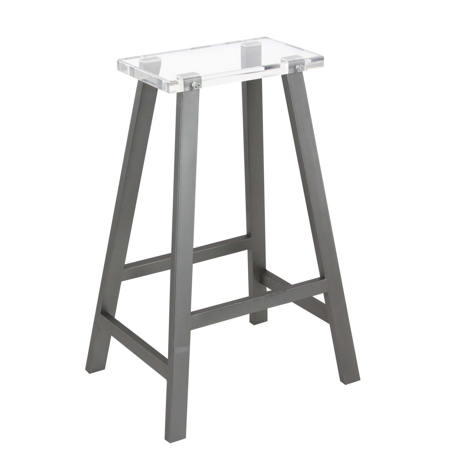 Marvelous Studio 350 Metal Acrylic Bar Stool 18 Inches Wide 28 Inches Gamerscity Chair Design For Home Gamerscityorg