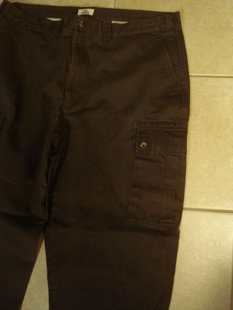 Redhead Men's Cargo Outdoor Gear Khaki Brown Pants Size 44 X 32 #RedHead #Cargo