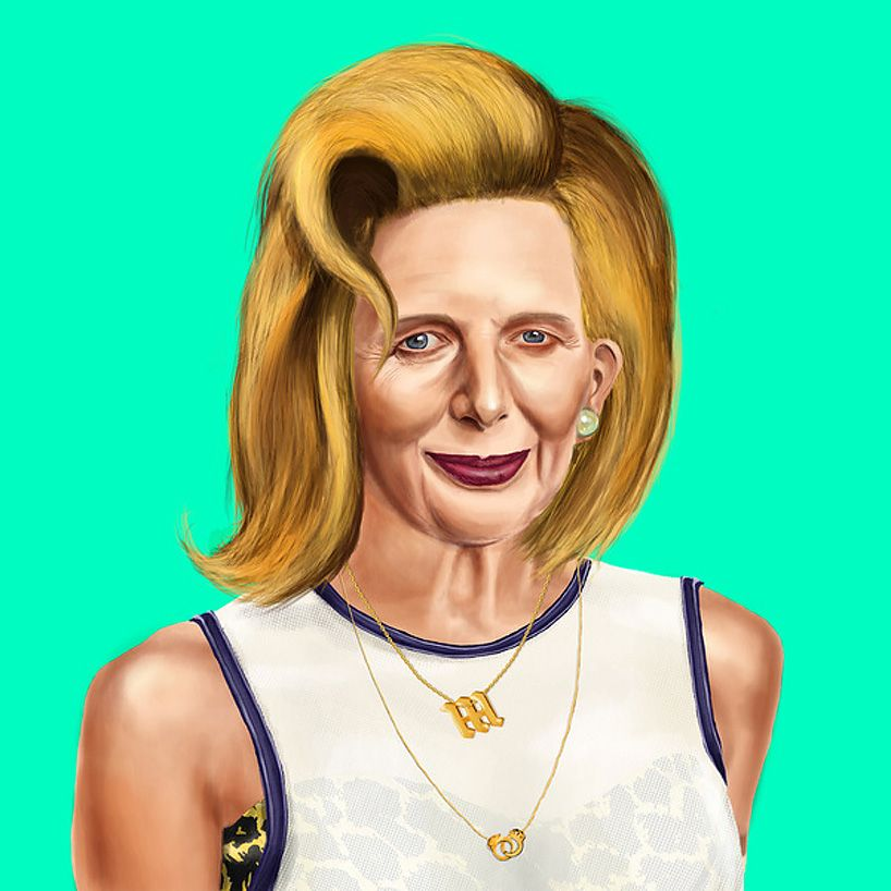 amit shimoni imagines world leaders as hipsters by pairing painted portraits of famous faces with the outfits and hairstyles of today's youth.