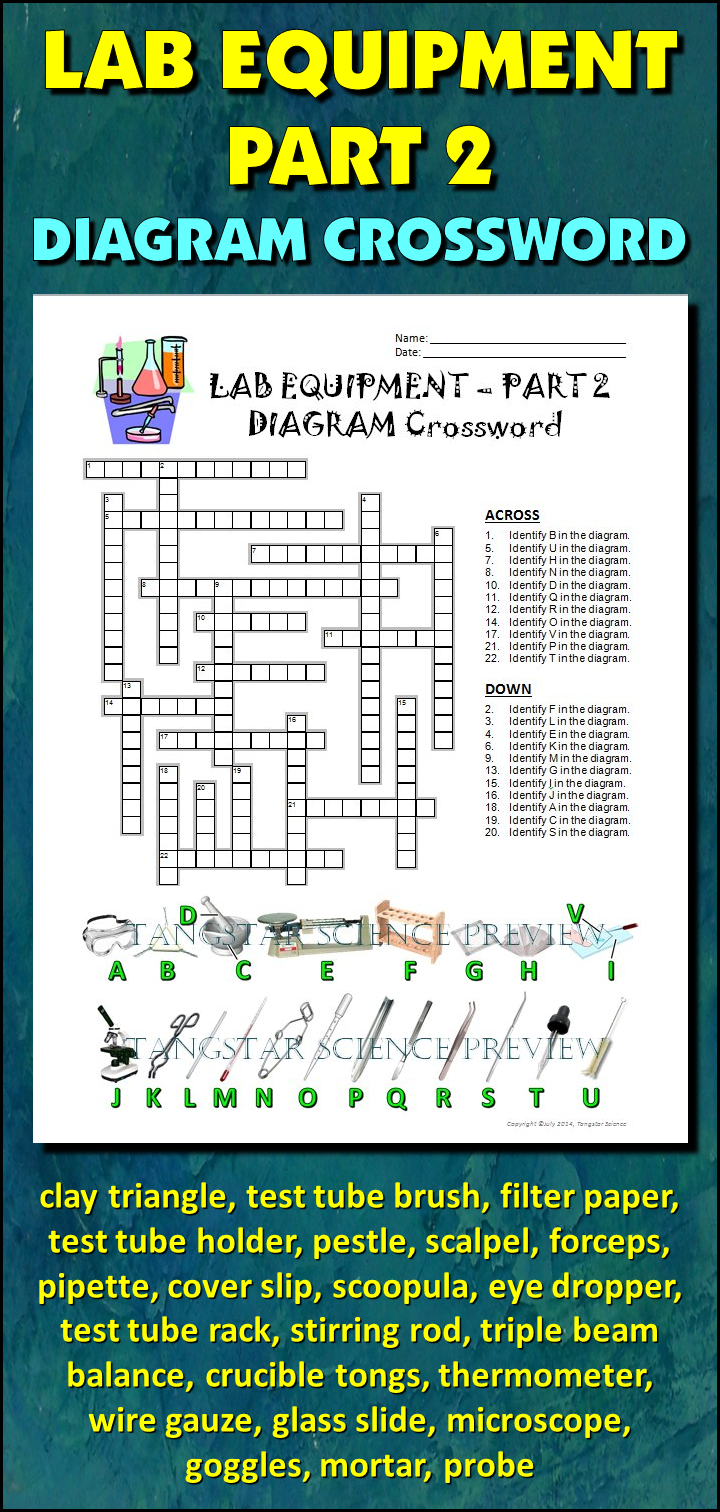 hight resolution of help students learn and remember the lab equipment commonly used in a science classroom using this diagram crossword bonus activity when they ve completed