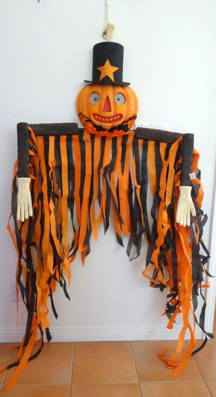 Bethany Lowe Halloween - Large jack-o-lantern/scarecrow decoration - lowes halloween
