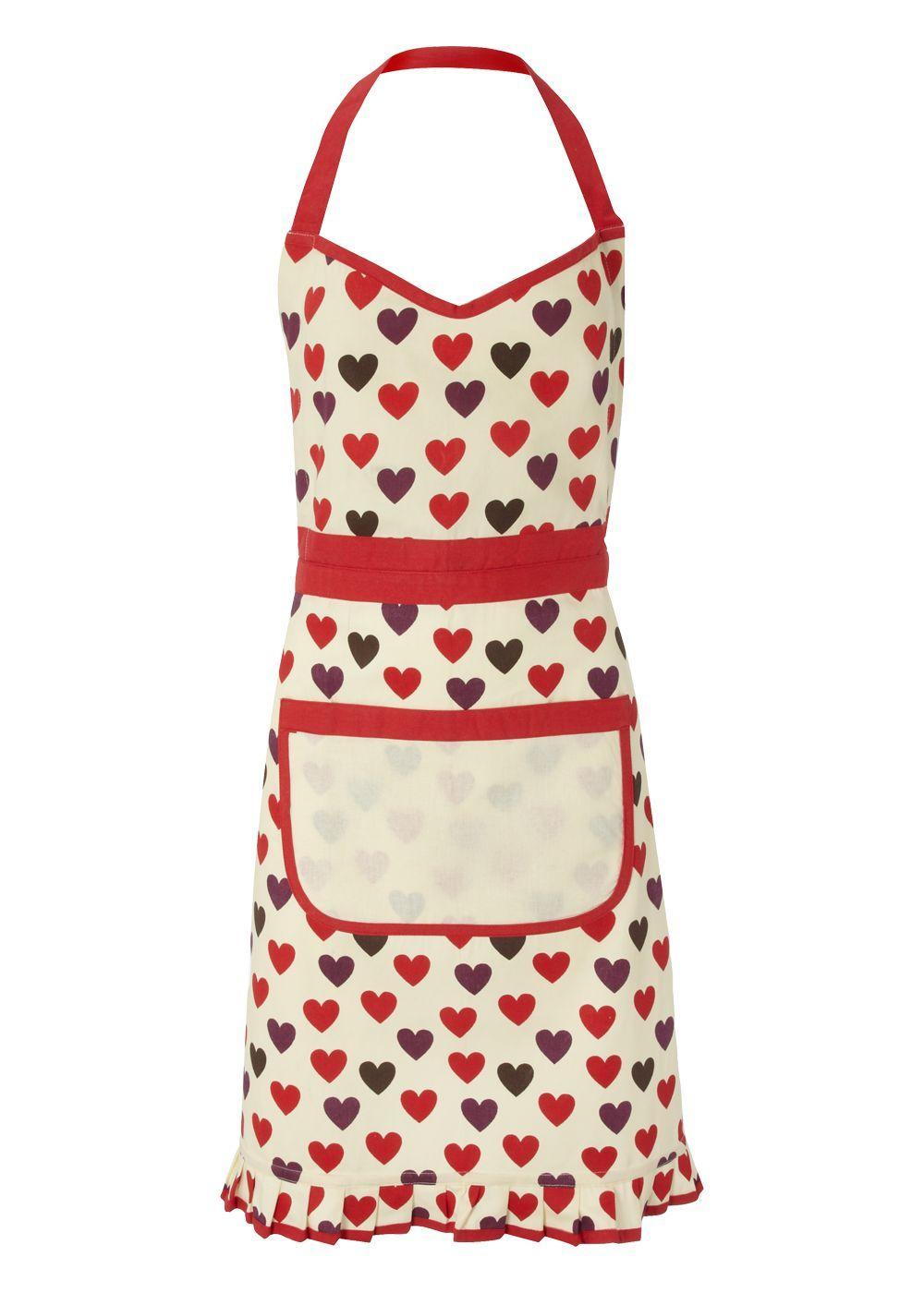 White frilly apron nz - Matalan Heart Apron