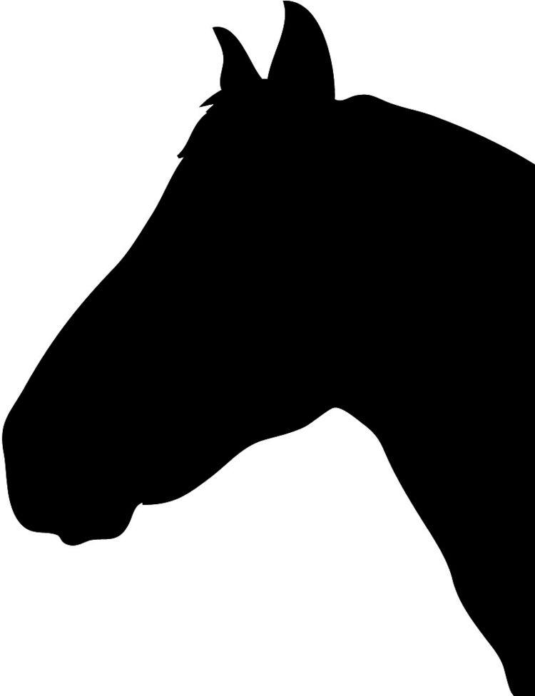 Pferdekopf Vorlage Fur Die Wandgestaltung Pferde Silhouette Wandschablonen Kostenlose Vorlagen